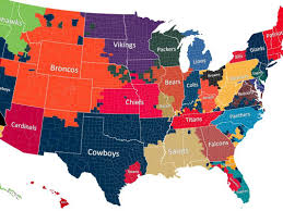 Map Of Oklahoma Counties Nfl Fan Map Favorite Team By County Business Insider