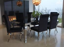 6 Black Dining Chairs Black Glass Dining Table 6 Chairs Cheap Dayri Me