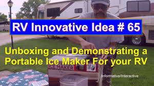 Portable Rv Patio by Rv Innovative Idea 65 Demonstrating A Portable Ice Maker For
