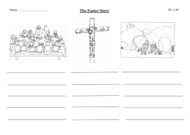simplified easter story template with pics by lottielot teaching