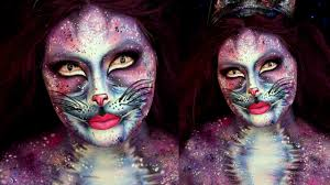 glam galaxy cat halloween makeup tutorial jordan hanz youtube
