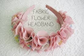 flower headbands diy wear the canvas diy fri fabric flower headband