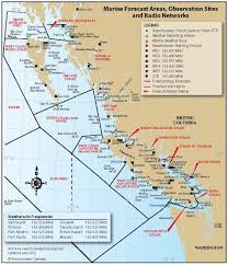 Map Of Bc Sailing Pelagia Marine Weather Forecasts For British Columbia