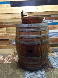 Wine Barrel Vanity Special Reserve Wine Barrel Bathroom Vanity With Double Wall