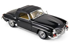 mercedes benz 190 sl 1957 black die cast hobbyland scale
