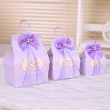 baby shower gift bags aliexpress buy 50pcs purple candy boxes party favors wedding