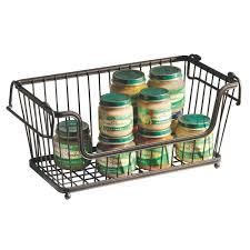 Stackable Wire Shelves by Amazon Com Interdesign York Lyra Kitchen Organizer Basket Large