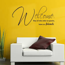 compare prices on vinyl wall decals stickers art graphics online large quote welcome friends bedroom wall art sticker graphic decal matt vinyl wall decals china