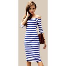 tight dress striped shoulder tight dress the crop stop