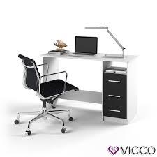 Schreibtisch Online Shop Vicco Schreibtisch Pc Tisch Weiß Schwarz Real
