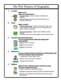 5 themes of geography worksheets activities projects