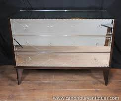 Hayworth Mirrored Chest Silver by Photo Of Antique Mirrored Art Deco Chest Drawers Commode Glass