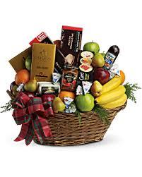 christmas basket fruits and christmas basket teleflora