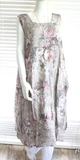 Plus Size Lagenlook Clothing Fab Italian Linen Lagenlook Quirky Long Length Floral Print Plus