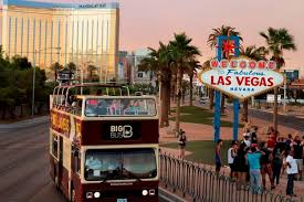 Las Vegas Hotels Strip Map by Las Vegas Strip Double Decker Bus Hop On Hop Off Day Tour Las Vegas