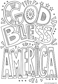 god bless america doodle coloring pages printable