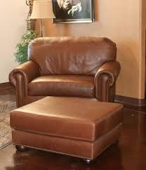 Brown Leather Chair With Ottoman Leather Chair Handmade In America Custom Furniture