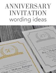 wedding anniversary invitation wording invitations by