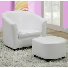 Accent Chair With Ottoman Monarch Specialties 8104 Accent Chair U0026 Ottoman In White Leather