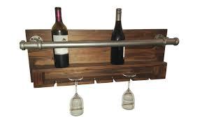 trent austin design industrial 2 bottle wall mounted wine rack