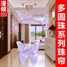 Butterfly Kitchen Curtains Usd 45 00 Crystal Bead Partition Curtain Bedroom Porch Curtain