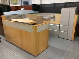 Herman Miller Reception Desk K1 Herman Miller Pre Owned Ethospace Reception Station