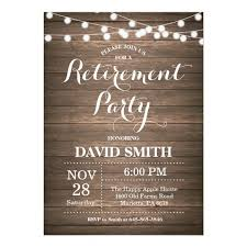 retirement invitations rustic retirement party invitation card zazzle