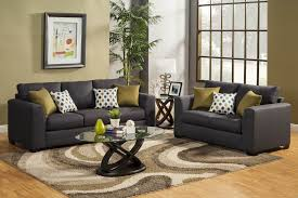 homelegance furnishing santa fe dark blue chenille sofa set usa