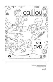 caillou u0027s winter wonders on dvd 9 23 08 familycorner com forums
