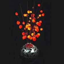 lantern flower lighted florals faux lantern flower 30 lights 31 inches