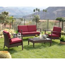 100 Wicker Patio Coffee Table - coral coast dursey all weather wicker 4 piece patio conversation