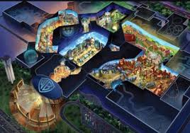 themed artwork warner brothers theme park in abu dhabi unveils concept what