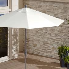 White Patio Umbrella 9 White Patio Umbrella By Sunbrella In Patio Umbrellas Reviews