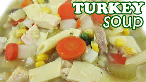 thanksgiving day leftover turkey soup recipe from leftovers