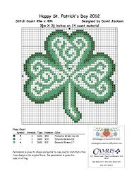 celtic shamrock by claddagh cross stitch via camus international