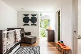 chevron crib bedding in nursery contemporary with nursery wall