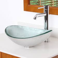 Oval Bathroom Sinks Elite Hand Painted Foil Boat Oval Bottom Oval Vessel Bathroom Sink