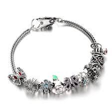 european bracelet chain images Braid chain wholesale colourful flower garden sterling silver mala jpg
