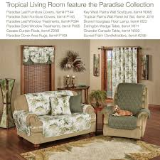 Tropical Curtain Panels Paradise Leaf Thermal Grommet Curtain Panels