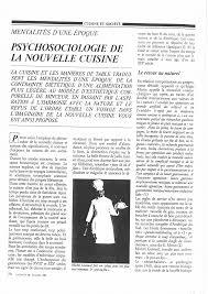 la nouvelle cuisine psychosociologie de la nouvelle cuisine pdf available