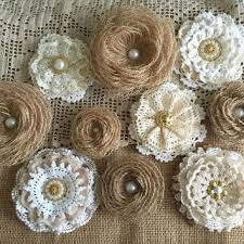 burlap flowers best burlap flowers for wedding cake products on wanelo