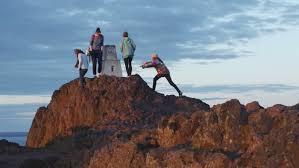 rock climbing in garden of the gods colorado springs stock