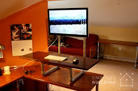 diy standing desk converter step by step plans simplified building