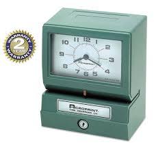 acroprint model 150 heavy duty analog automatic print time clock