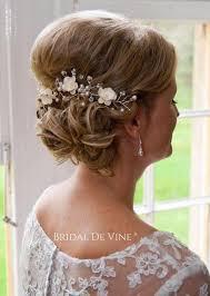 flower hair bun mulberry flower hair vine hair up bun bridal hair accessory