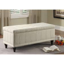 bedroom ideas ivory leather upholstered tufted bench with storage