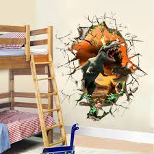 compare prices on dinosaur baby room online shopping buy low 3d dinosaur wall stickers break the wall decals for kids rooms decor wall art for baby