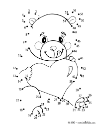 connect dots teddy bear painting coloring page with shimosoku biz