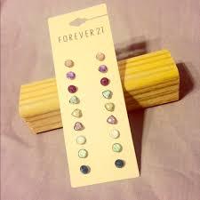 earring stud set 40 forever 21 jewelry forever 21 stud earring set of 9