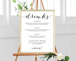 wedding drink menu template wedding drinks menu template wedding templates and printables